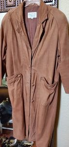 Long sueded Leather western coat